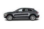 Car Driver side profile view of a 2018 Porsche Macan S 5 Door SUV Side View