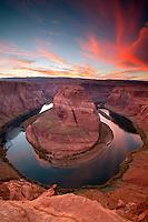 The Colorado River at Horseshoe Bend, near Page, Arizona.
