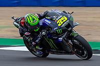 27th August 2021; Silverstone Circuit, Silverstone, Northamptonshire, England; MotoGP British Grand Prix, Practice Day; Monster Energy Yamaha MotoGP rider Cal Crutchlow on his Yamaha YZR-M1
