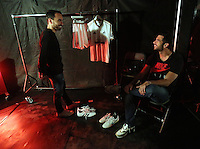 Pictured L-R: Leon Britton and Jordi Amat 01 April 2015<br />