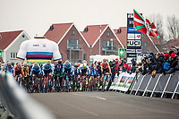 Men's junior race start. <br /> <br /> UCI 2019 Cyclocross World Championships<br /> Bogense / Denmark<br /> <br /> ©kramon
