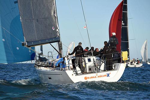 xP44 Orange Mecanix2, skippered by Maxime de Mareuil | Credit: Rick Tomlinson/RORC