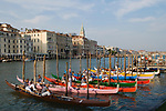 Venice Italy  Preparing for the Regatta first week of September.  2009 2000s