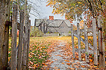 The Whipple House (ca 1677) in Ipswich, MA, USA