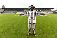 mascotte Eendracht Aalst pictured during a female soccer game between Eendracht Aalst and Standard Femina de Liege on the 11 th matchday of the 2020 - 2021 season of Belgian Scooore Womens Super League , Saturday 23 of January 2021  in Aalst , Belgium . PHOTO SPORTPIX.BE | SPP | STIJN AUDOOREN