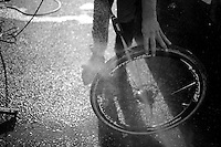 cleaning the wheels