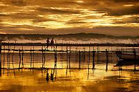 Pier at sunset on Lake Poso Pendolo Sulawesi Indonesia.