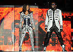 """Will.i.am & Stacy Ferguson aka Fergie of The Black Eyed Peas performs live at Staples Center as part of their """"The E.N.D. Tour"""" in Los Angeles, California on March 29,2010                                                                   Copyright 2010  DVS / RockinExposures"""