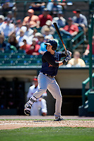 Scranton/Wilkes-Barre RailRiders right fielder Dustin Fowler (10) bats during a game against the Rochester Red Wings on June 7, 2017 at Frontier Field in Rochester, New York.  Scranton defeated Rochester 5-1.  (Mike Janes/Four Seam Images)