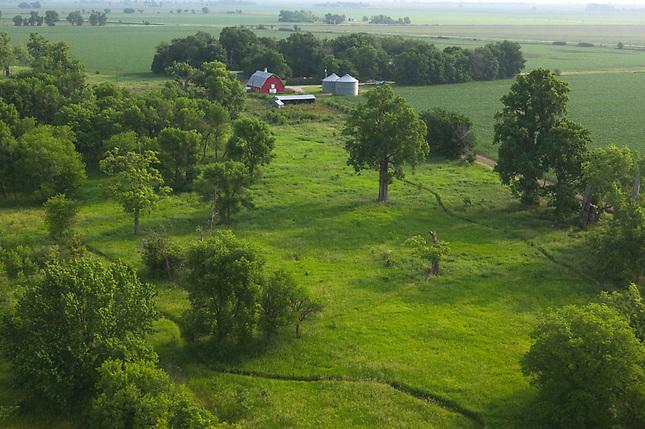 Farmland on the praire