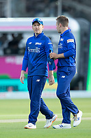 Eoin Morgan, London Spirit with Mason Crane during London Spirit Men vs Trent Rockets Men, The Hundred Cricket at Lord's Cricket Ground on 29th July 2021