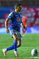 CALI – COLOMBIA, 07-11-2020: Jhon Fredy Duque del Millonarios en acción durante el partido entre América de Cali y Millonarios FC por la fecha 18 de la Liga BetPlay DIMAYOR I 2020 jugado en el estadio Pascual Guerrero de la ciudad de Cali. / Jhon Fredy Duque of Millonarios in action during match between America de Cali and Millonarios FC for the date 18 as part of BetPlay DIMAYOR League I 2020 played at the Pascual Guerrero stadium in Cali city. Photos: VizzorImage / Nelson Rios / Cont