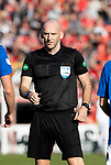 Aberdeen v St Johnstone…18.09.21  Pittodrie    SPFL<br />Referee Bobby Madden<br />Picture by Graeme Hart.<br />Copyright Perthshire Picture Agency<br />Tel: 01738 623350  Mobile: 07990 594431