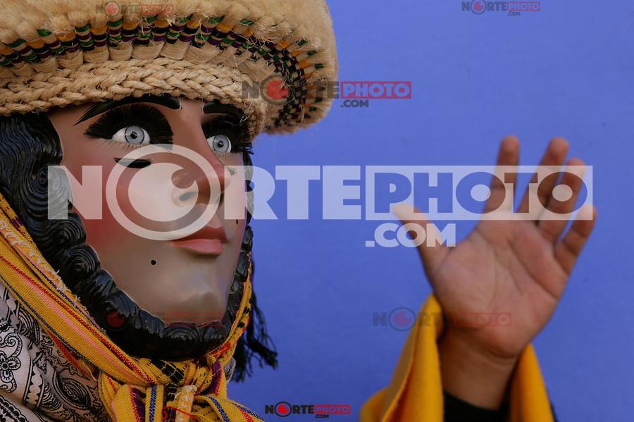 El Parachico, bestimenta que utilizan para danzar en las festividades de San Sebastian Martir, en el pueblo magico de Chiapa de Corzo. CHIAPAS, MEXICO. (NoeGarcia/NortePhoto)