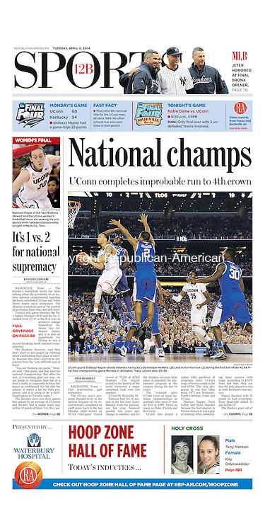 UCONN HUSKIES WIN NCAA NATIONAL CHAMPIONSHIP! University of Connecticut, UCONN Huskies, NCAA Final Four, National Champions, UCONN defeats Kentucky, NCAA basketball, college basketball national champions, Connecticut