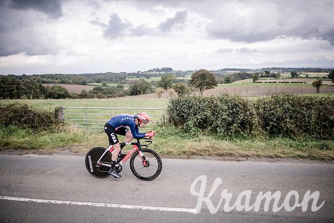 Chad Haga (USA/Sunweb)<br /> Elite Men Individual Time Trial<br /> from Northhallerton to Harrogate (54km)<br /> <br /> 2019 Road World Championships Yorkshire (GBR)<br /> <br /> ©kramon