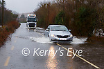 The River Flesk burst its banks on the Loo Bridge  on the Kilgarvan to the N22 road  on Tuesday morning