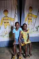 TOGO, Tohoun, village ADJIKAME, portraiture of daughters of  Komi DOSSA<br /> and Afi DOSSA né HOUNDJO
