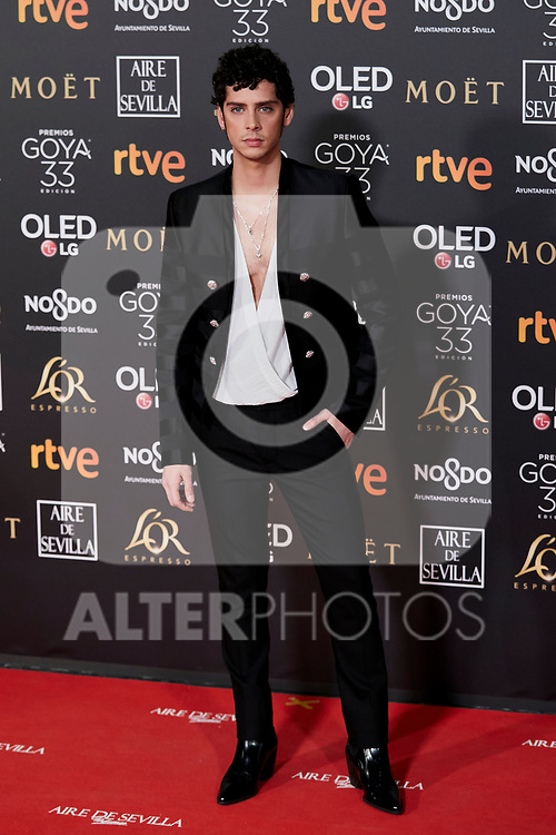 Eduardo Casanova attends to 33rd Goya Awards at Fibes - Conference and Exhibition  in Seville, Spain. February 02, 2019. (ALTERPHOTOS/A. Perez Meca)