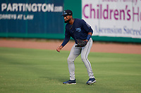 Mobile BayBears Jo Adell (25) during a Southern League game against the Mobile BayBears on July 25, 2019 at Hank Aaron Stadium in Pensacola, Florida.  Pensacola defeated Mobile 2-1 in the first game of a doubleheader.  (Mike Janes/Four Seam Images)