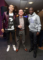 Pictured: Federico Fernandez (L) and Modou Barrow (R)<br /> Re: Swansea City FC Christmas party at the Liberty Stadium, south Wales, UK.