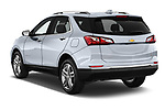 Car pictures of rear three quarter view of 2018 Chevrolet Equinox Premier 5 Door SUV Angular Rear