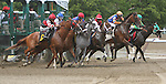 August 17, 2014: Go Olivia Go (#2), with Rajiv Maraugh at break of $32,000 claiming for fillies & mares 3-year olds & up, 6 1/2 furlongs at Saratoga Racetrack. Sue Kawczynski/ESW/CSM