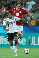 Benjamin Henrichs of Germany and Robert Skov of Denmark compete for the ball<br /> Udine 17-06-2019 Stadio Friuli <br /> Football UEFA Under 21 Championship Italy 2019<br /> Group Stage - Final Tournament Group B<br /> Germany - Denmark<br /> Photo Cesare Purini / Insidefoto