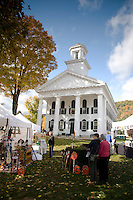 An autumn craft fair on the village green in Newfane, Vermont, New England, United States of America, North America