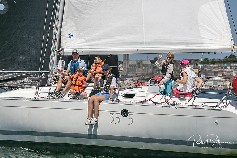 A great day for a sail in Cork Harbour during the RCYC Round Spike Island Race