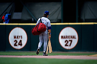 SAN FRANCISCO, CA:  Mike Piazza of the Los Angeles Dodgers walks off the field during a game against the San Francisco Giants at Candlestick Park in San Francisco, California on April 17, 1996. (Photo by Brad Mangin)