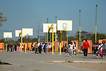 SCHOOL CHILDREN HAVE ACCESS to MULTIPLE BASKETBALL COURTS ALLOWING THEM to IMPROVE their HEALTH.
