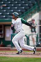 Fort Wayne TinCaps left fielder Rod Boykin (1) during the second game of a doubleheader against the Great Lakes Loons on May 11, 2016 at Parkview Field in Fort Wayne, Indiana.  Great Lakes defeated Fort Wayne 5-0.  (Mike Janes/Four Seam Images)