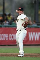 Visalia Rawhide third baseman Matt Davidson #30 in the field during a game   against the Stockton Ports at Recreation Park on July 30, 2011 in Visalia,California. Visalia defeated Stockton 11-2.(Larry Goren/Four Seam Images)