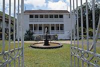 France/DOM/Martinique/Le Carbet/Plantation Lajus/Distillerie Bally: Détail maison coloniale