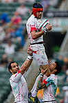 Tonga play Tunisia in a Qualifier Quarter Final on Day 3 of the Cathay Pacific / HSBC Hong Kong Sevens 2013 on 24 March 2013 at Hong Kong Stadium, Hong Kong. Photo by Aitor Alcalde / The Power of Sport Images