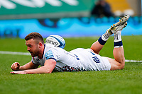 21st March 2021; Franklin's Gardens, Northampton, East Midlands, England; Premiership Rugby Union, Northampton Saints versus Bristol Bears; Andy Uren of Bristol Bears goes over for the winning try in the last minutes of the game