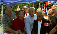 FILE PHOTO -  Paul martin<br />  and Doctor Singh<br /> on Canada Day, July 1st (year unknown)<br /> <br /> Martin was Prime Minister of Canada from  2003 to 2006.<br /> <br /> PHOTO : Agence quebec Presse