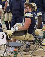 Pitt offensive tackle Brian O'Neill. The Pitt Panthers defeated the Syracuse Orange 76-61 at Heinz Field in Pittsburgh, Pennsylvania on November 26, 2016.