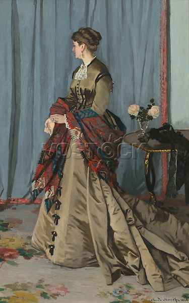 Portrait of Madame Louis Joachim Gaudibert by Claude Monet (1868). Paris, musee d'Orsay.