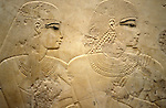 Relief on the wall in the Tomb of Ramose at Thebes.Ramose was a Governor of Thebes and Vizier during the reigns of Amenophis III who ruled Egypt from 1391-1353 or 1388-1351 BC and Amenophis IV who changed his name to Akhenaten and reigned from 1353-1336 or 1351- 1334 BC.  Thebes is the name the Greeks gave to Waset, the ancient capital of Egypt.