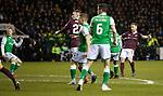 03.03.2020 Hibs v Hearts: Ollie Bozanic scores for Hearts