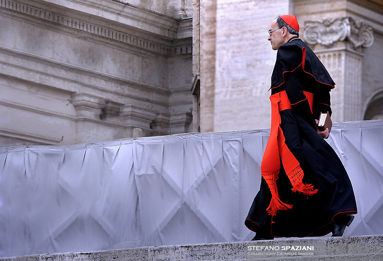 Lyon's cardinal Philippe Barbarin .Pope Francis during of a weekly general audience at St Peter's square in Vatican. April 26, 2017