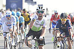 Mark Cavendish (GBR) Team Dimension Data wins Stage 3 The Silicon Oasis Stage of the Dubai Tour 2018 the Dubai Tour's 5th edition, running 180km from Skydive Dubai to Fujairah, Dubai, United Arab Emirates. 7th February 2018.<br /> Picture: LaPresse/Fabio Ferrari   Cyclefile<br /> <br /> <br /> All photos usage must carry mandatory copyright credit (© Cyclefile   LaPresse/Fabio Ferrari)
