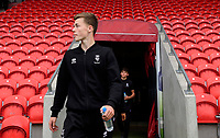 Lincoln City's Ben Sault arrives at the ground prior to the game<br /> <br /> Photographer Chris Vaughan/CameraSport<br /> <br /> EFL Leasing.com Trophy - Northern Section - Group H - Doncaster Rovers v Lincoln City - Tuesday 3rd September 2019 - Keepmoat Stadium - Doncaster<br />  <br /> World Copyright © 2018 CameraSport. All rights reserved. 43 Linden Ave. Countesthorpe. Leicester. England. LE8 5PG - Tel: +44 (0) 116 277 4147 - admin@camerasport.com - www.camerasport.com