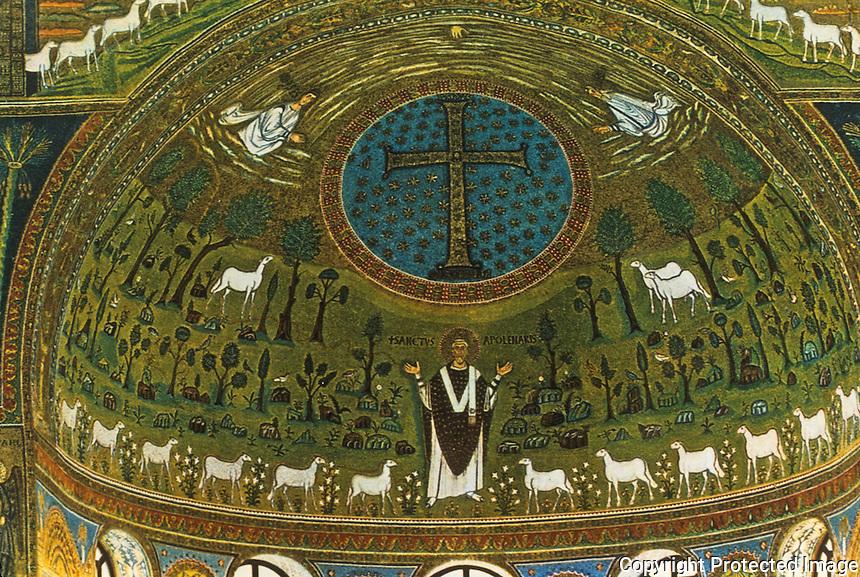 Ravenna: Basilica of Sant' Apollinare in Classe--Apse.