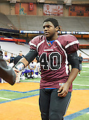 NY State Football Class AA Final featuring the Orchard Park Quakers of Section VI against the New Rochelle Huguenots of Section I at the Carrier Dome on November 24, 2012 in Syracuse, New York. New Rochelle defeated Orchard Park 34-6. (Copyright Mike Janes Photography 2012)