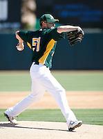Dallas Braden - Oakland Athletics - 2009 spring training.Photo by:  Bill Mitchell/Four Seam Images