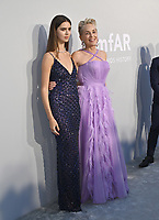 ANTIBES, FRANCE. July 16, 2021: Helena Gatsby & Sharon Stone at the amfAR Cannes Gala 2021, as part of the 74th Festival de Cannes, at Villa Eilenroc, Antibes.<br /> Picture: Paul Smith / Featureflash