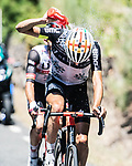 Fabio Aru (ITA) Team Qhubeka NextHash and Rafal Majka (POL) UAE Team Emirates in the breakaway during Stage 15 of La Vuelta d'Espana 2021, running 197.5km from Navalmoral de la Mata to El Barraco, Spain. 29th August 2021.     <br /> Picture: Charly Lopez/Unipublic | Cyclefile<br /> <br /> All photos usage must carry mandatory copyright credit (© Cyclefile | Unipublic/Charly Lopez)